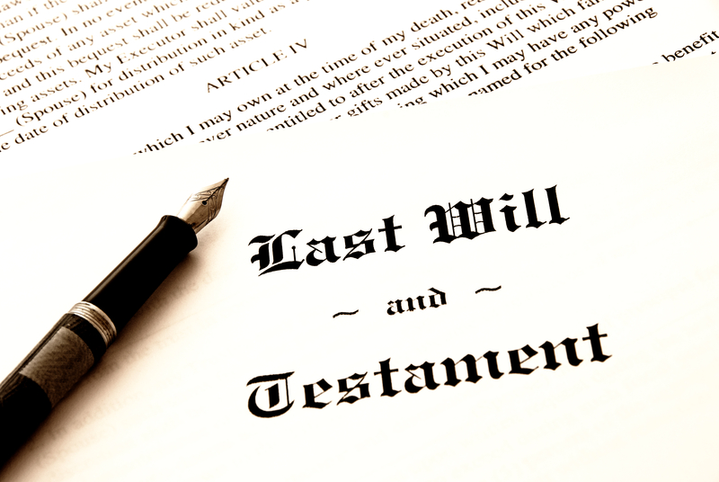 A handwritten last will and testament.